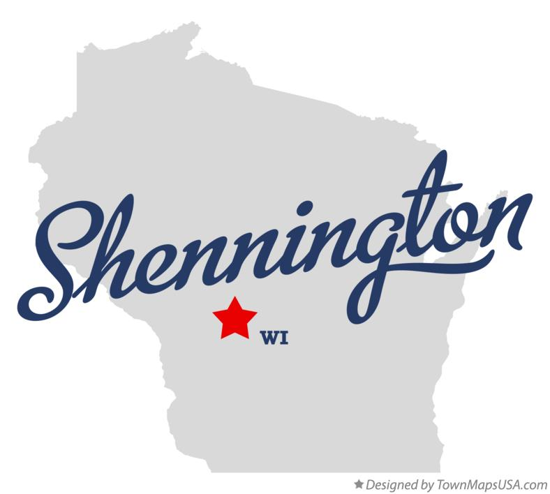 Map of Shennington Wisconsin WI