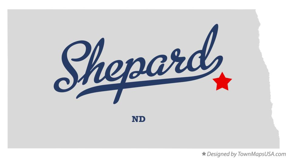 Map of Shepard North Dakota ND