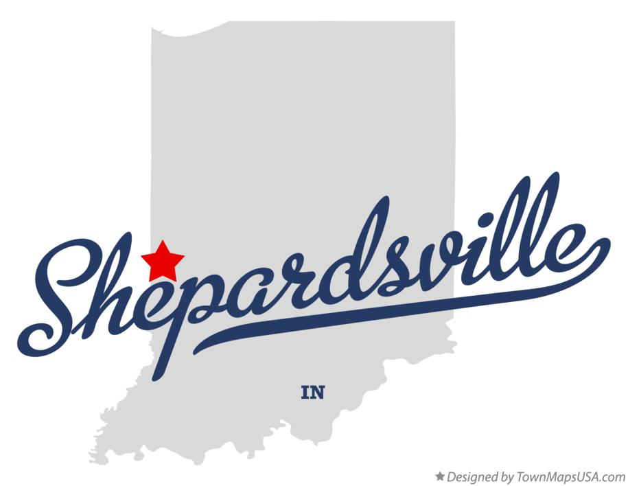 Map of Shepardsville Indiana IN