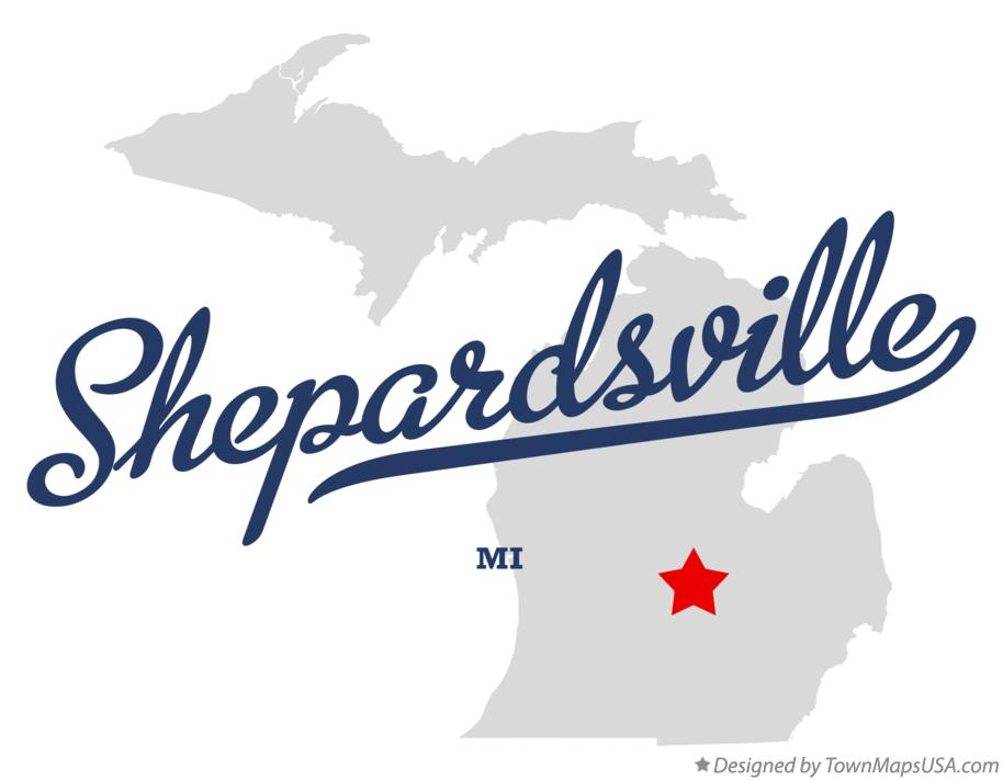 Map of Shepardsville Michigan MI