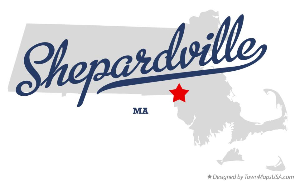 Map of Shepardville Massachusetts MA