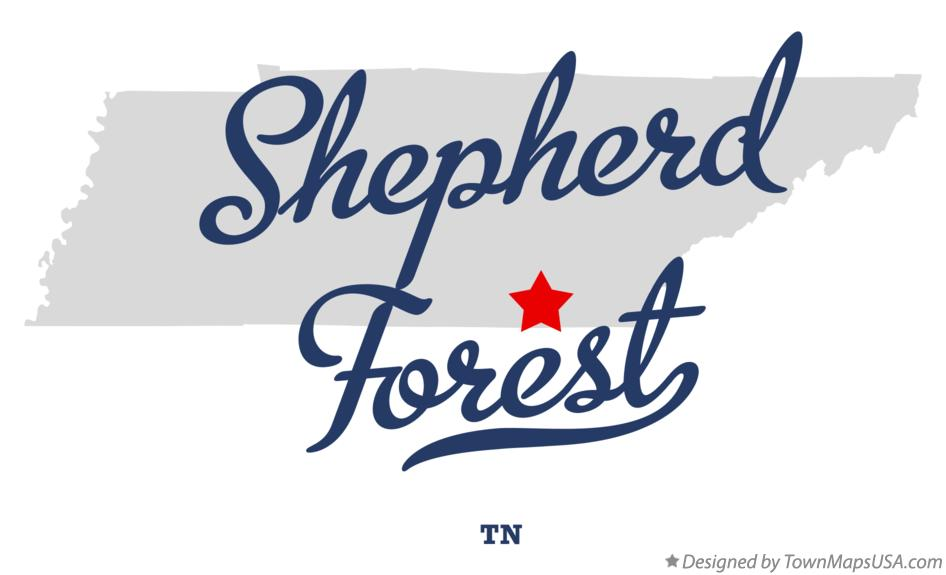 Map of Shepherd Forest Tennessee TN