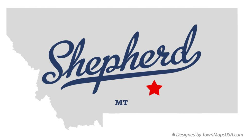 Map of Shepherd Montana MT