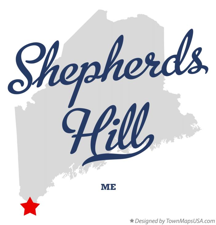 Map of Shepherds Hill Maine ME