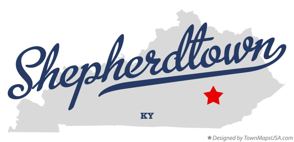 Map of Shepherdtown Kentucky KY