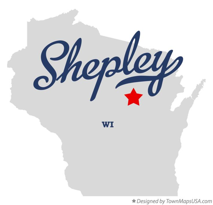 Map of Shepley Wisconsin WI