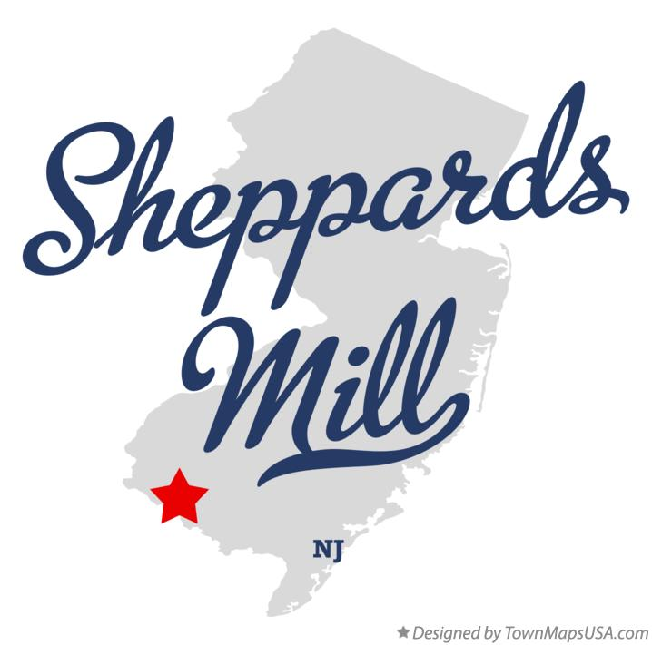 Map of Sheppards Mill New Jersey NJ