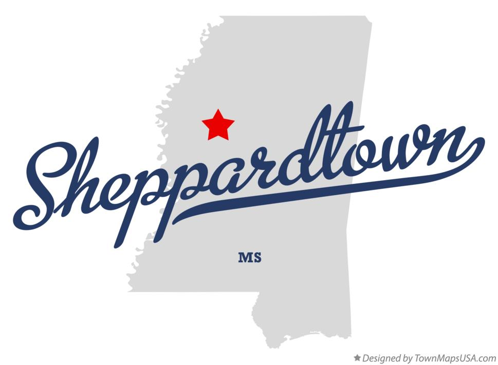 Map of Sheppardtown Mississippi MS