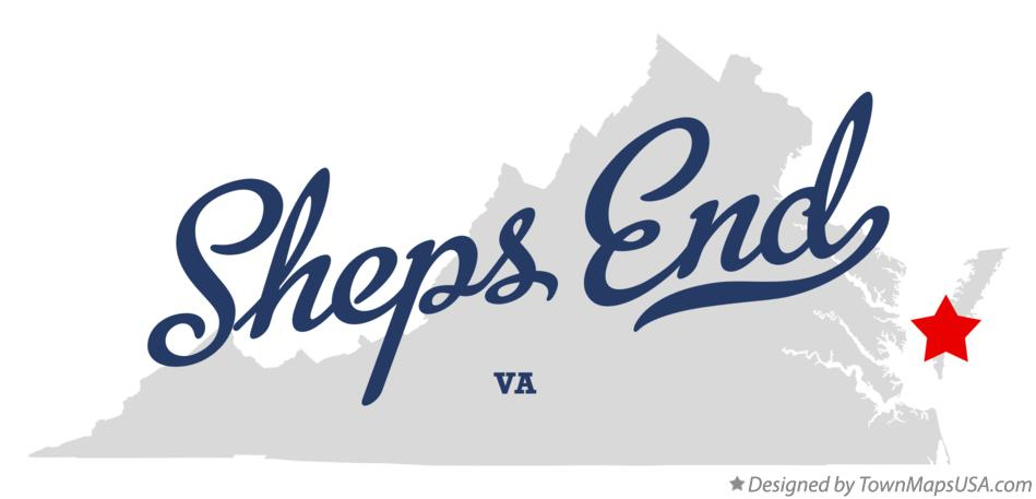 Map of Sheps End Virginia VA