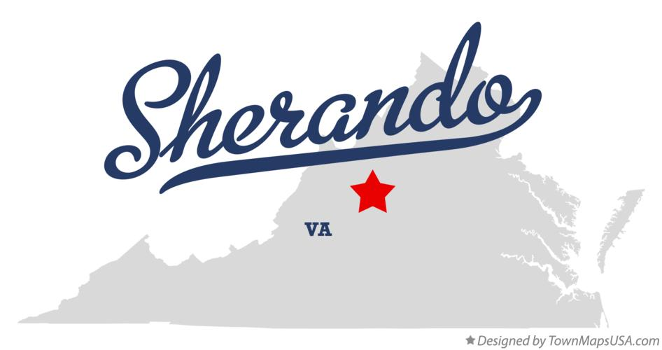 Map of Sherando Virginia VA