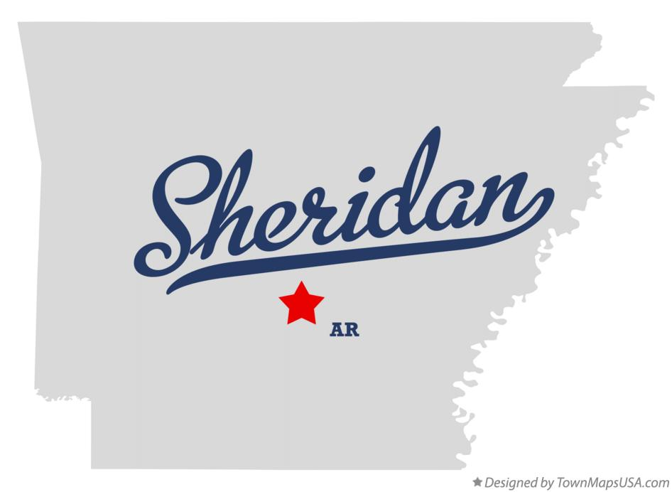 Map of Sheridan Arkansas AR