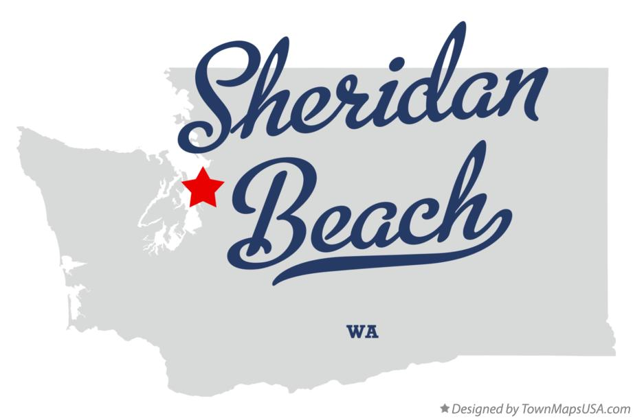 Map of Sheridan Beach Washington WA
