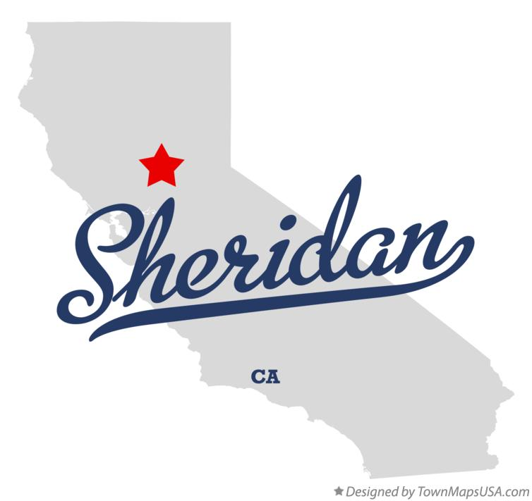 Map of Sheridan California CA
