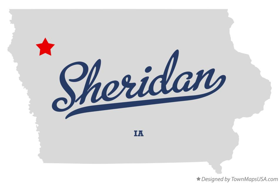 Map of Sheridan Iowa IA