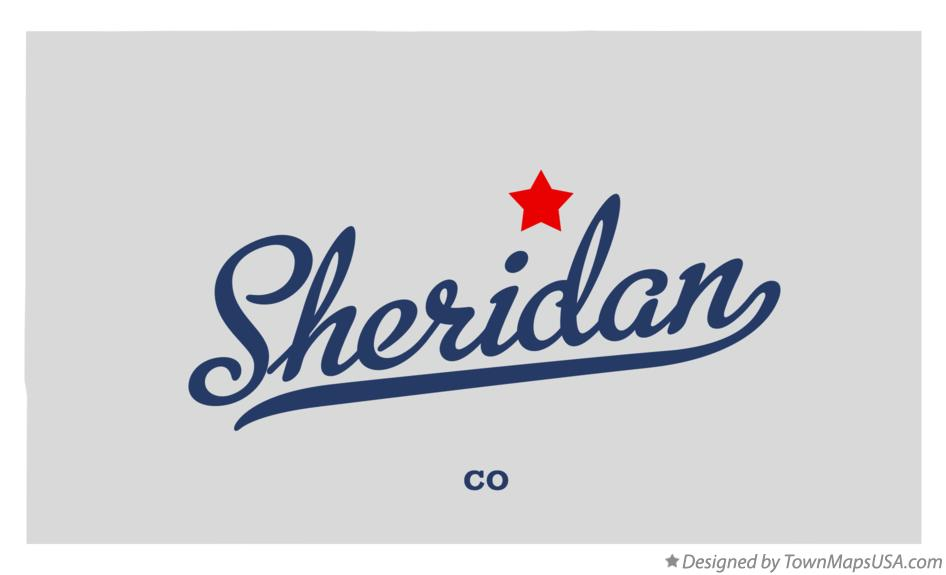Sheridan Colorado Map.Map Of Sheridan Co Colorado