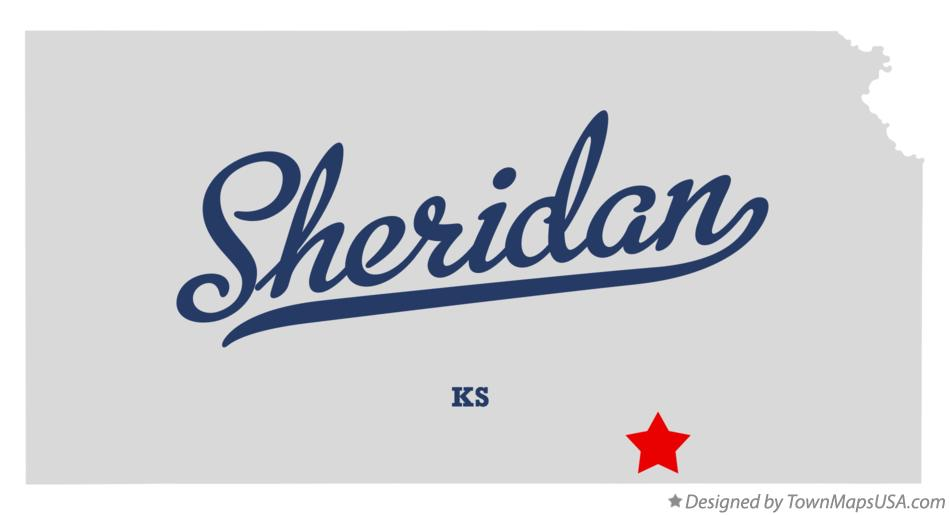 Map of Sheridan Kansas KS