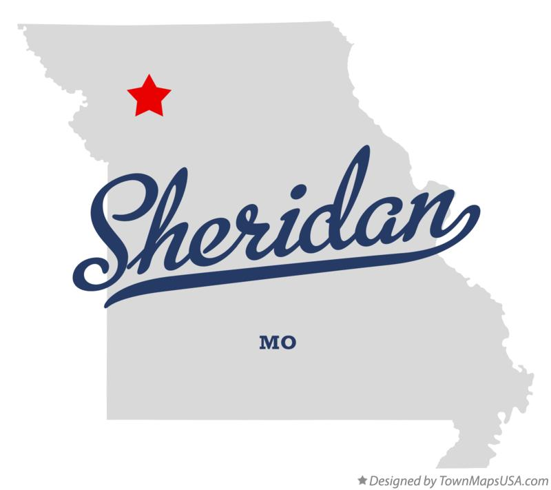 Map of Sheridan Missouri MO