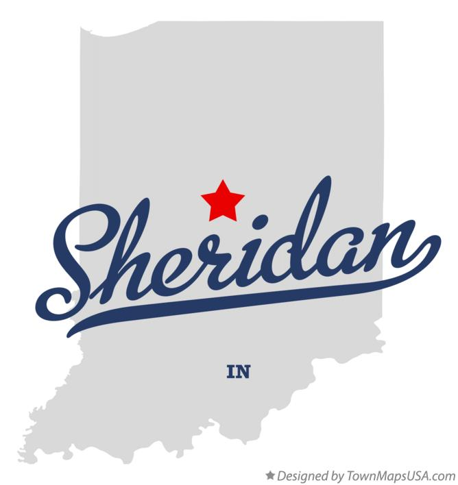 Map of Sheridan Indiana IN