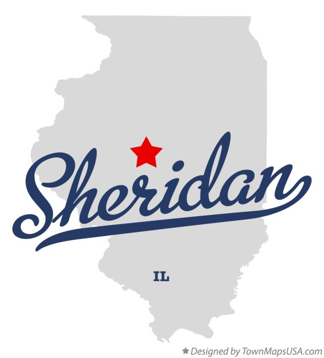 Map of Sheridan Illinois IL