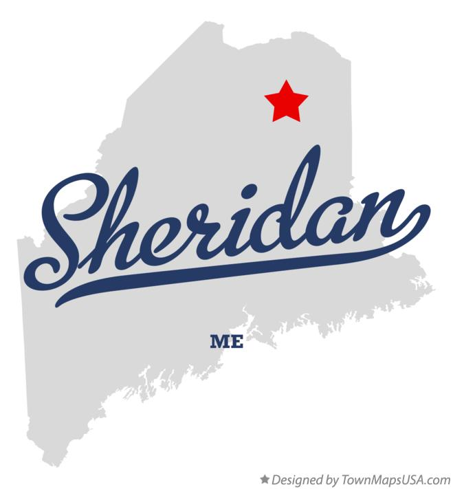 Map of Sheridan Maine ME