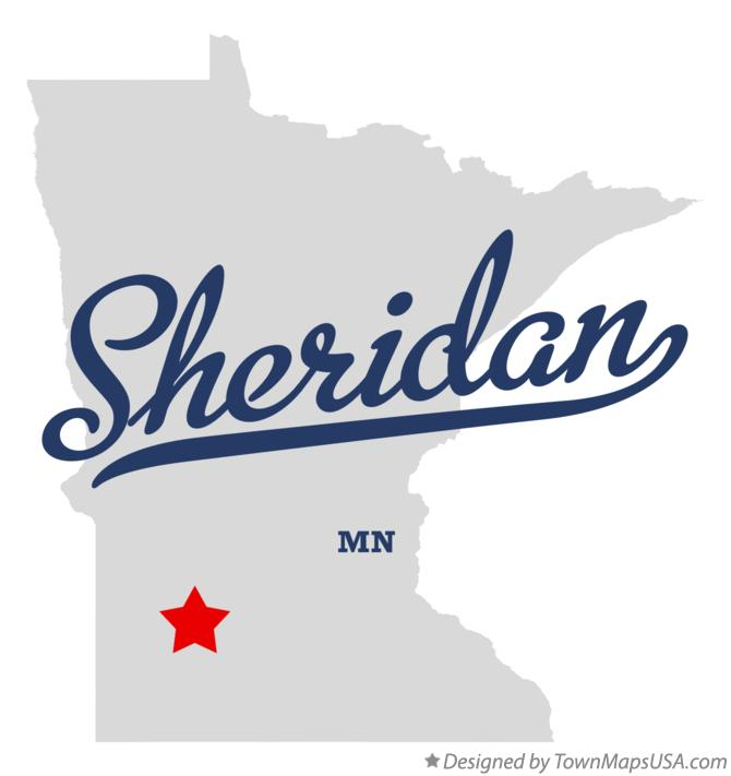Map of Sheridan Minnesota MN