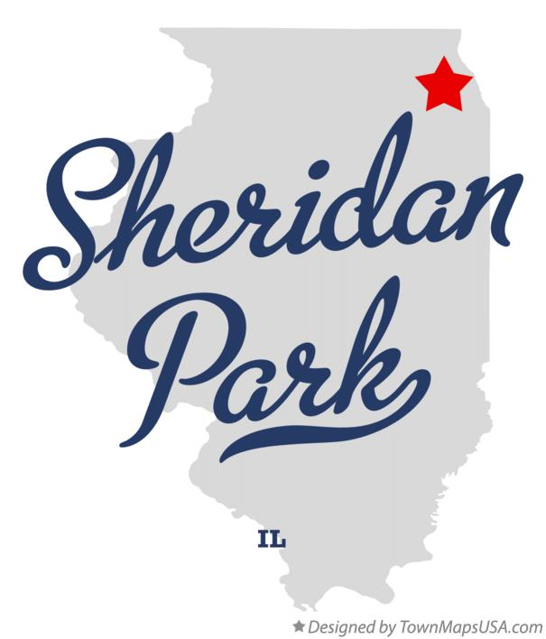 Map of Sheridan Park Illinois IL