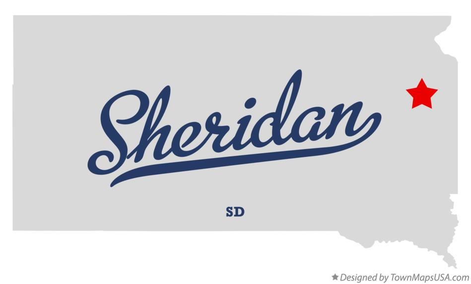 Map of Sheridan South Dakota SD