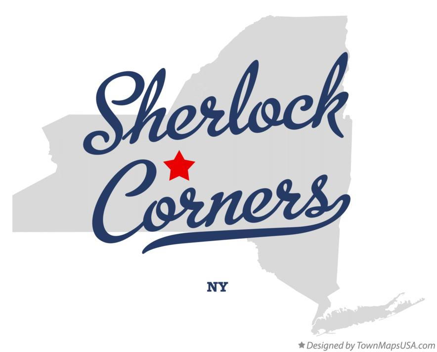 Map of Sherlock Corners New York NY
