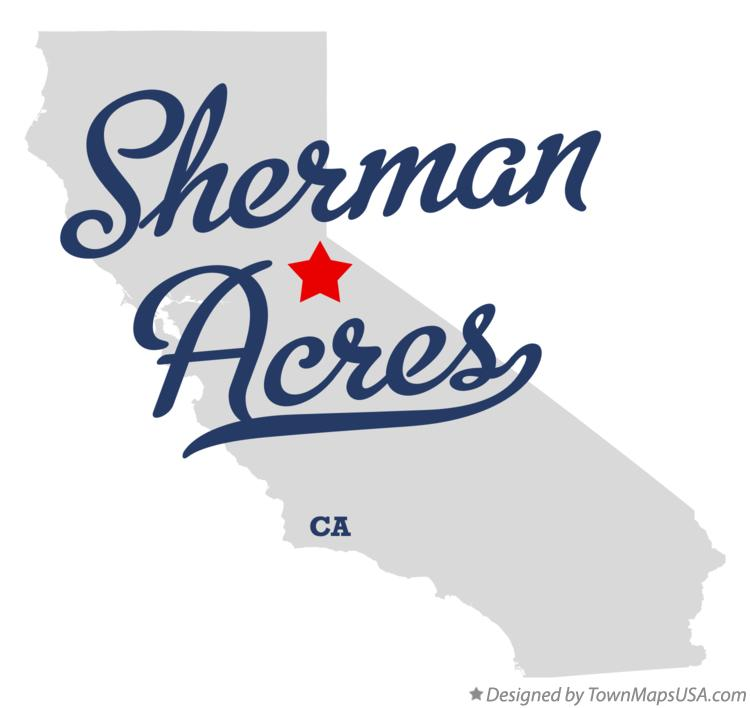 Map of Sherman Acres California CA