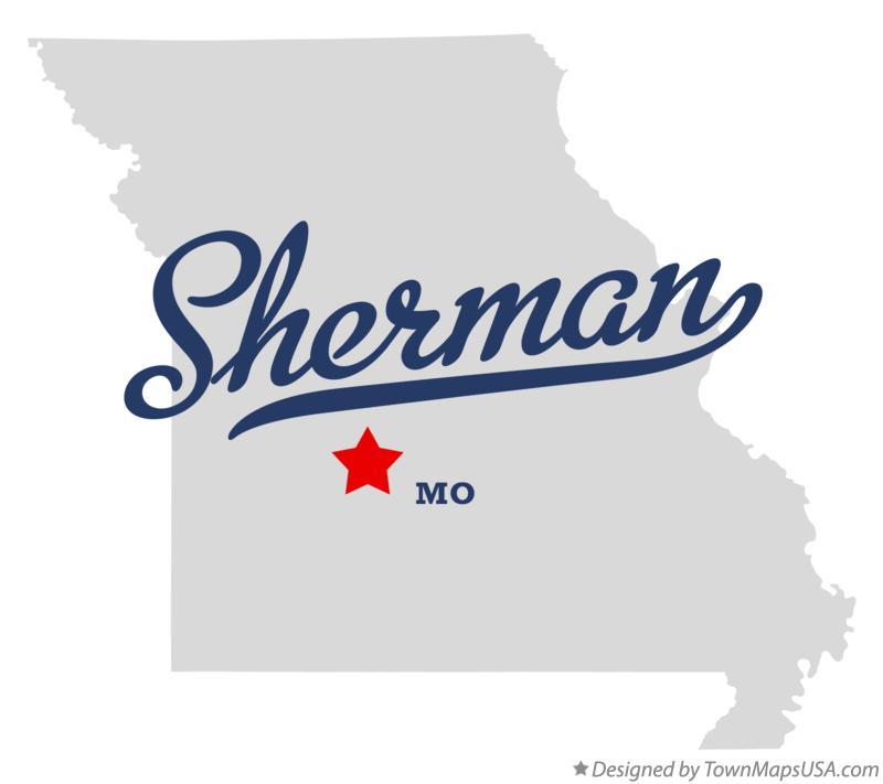 Map of Sherman Missouri MO