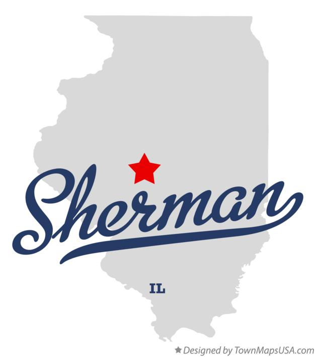 Map of Sherman Illinois IL