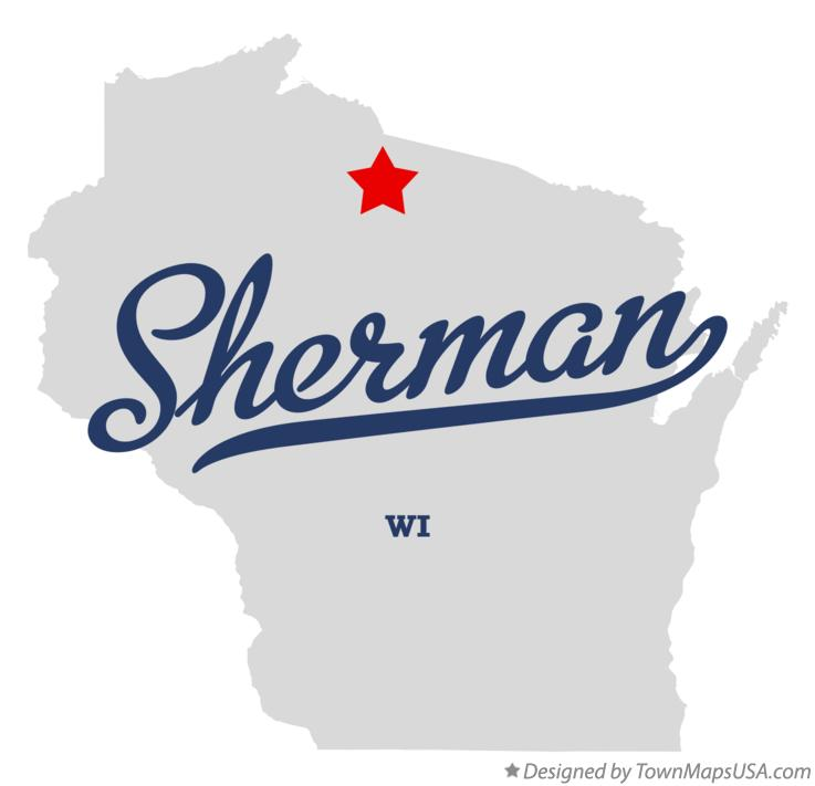 Map of Sherman Wisconsin WI