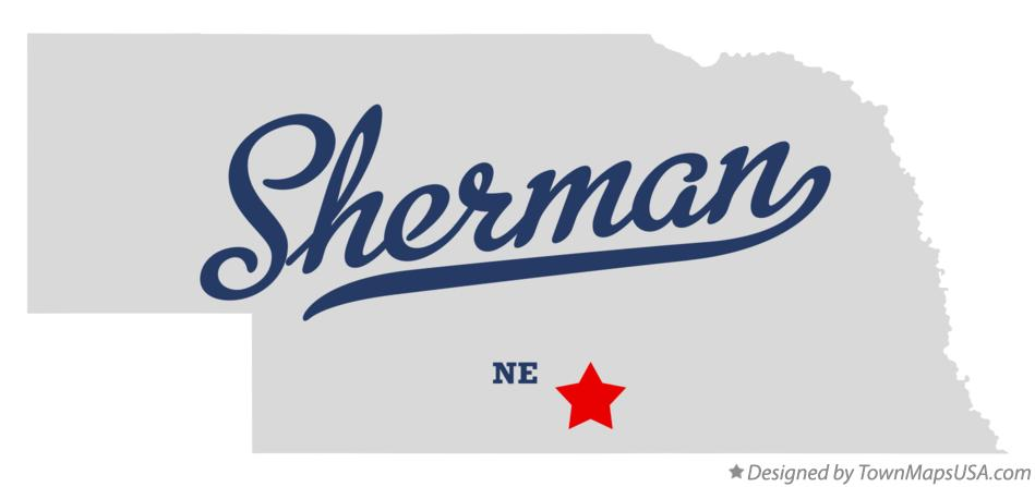 Map of Sherman Nebraska NE