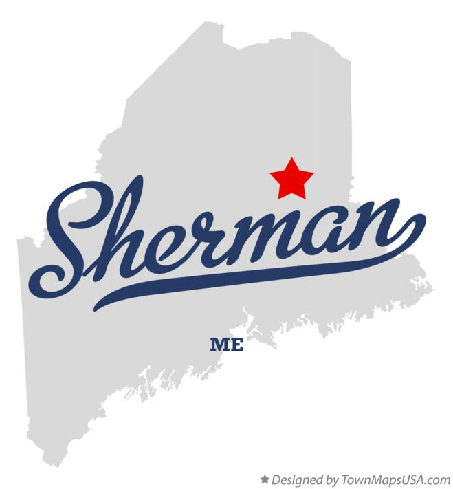 Map of Sherman Maine ME