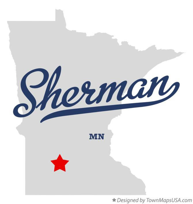 Map of Sherman Minnesota MN