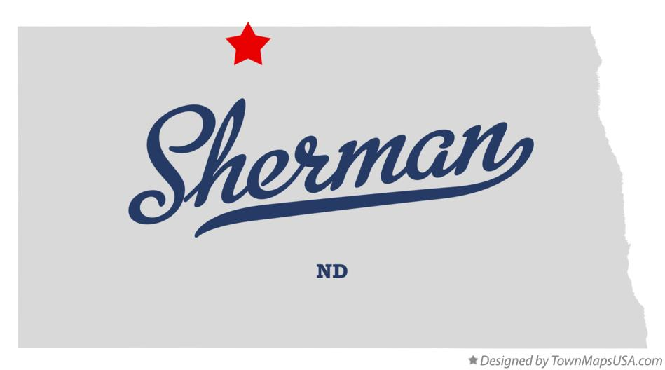 Map of Sherman North Dakota ND