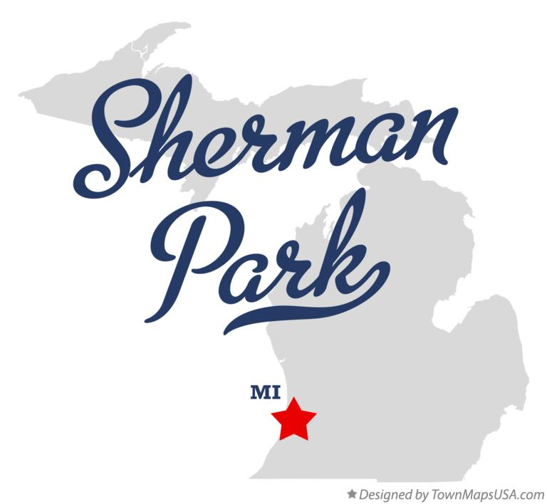 Map of Sherman Park Michigan MI