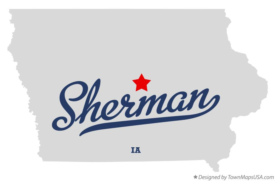 Map of Sherman Iowa IA
