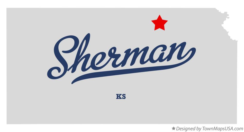 Map of Sherman Kansas KS