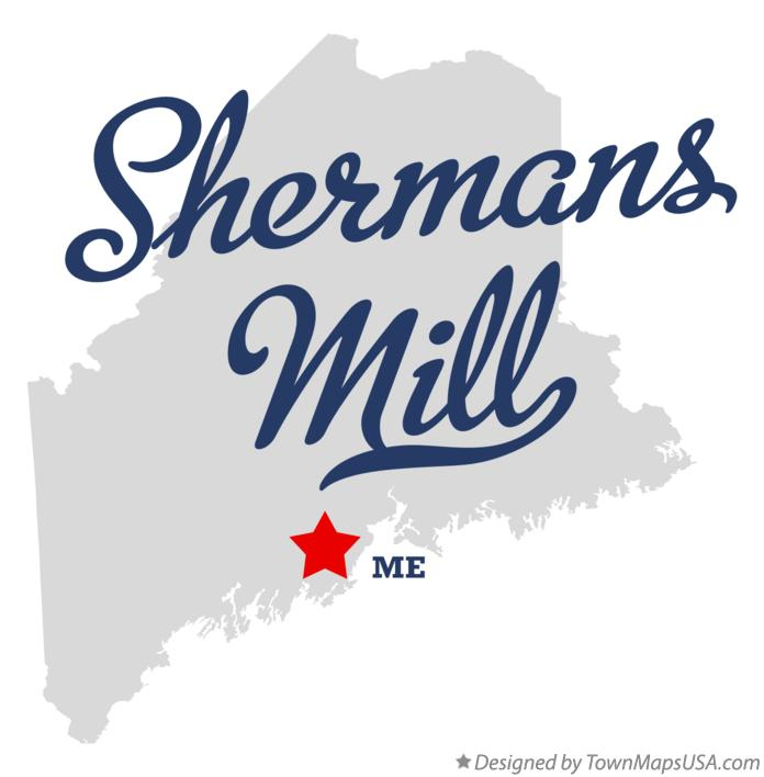 Map of Shermans Mill Maine ME