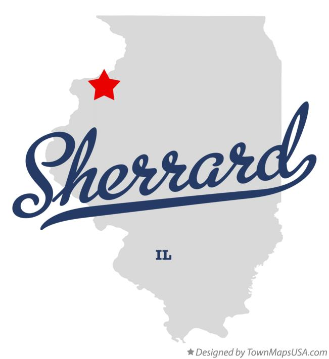 Map of Sherrard Illinois IL