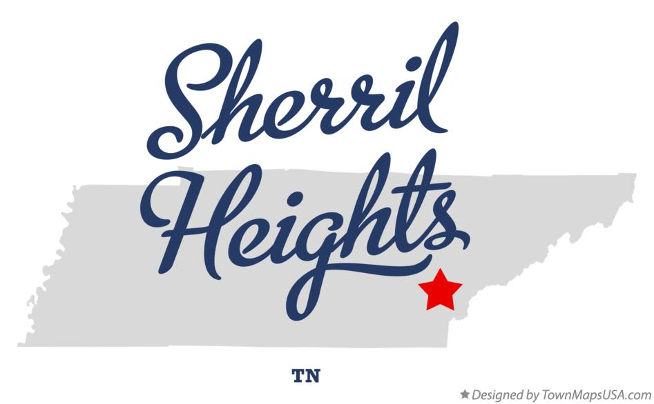 Map of Sherril Heights Tennessee TN