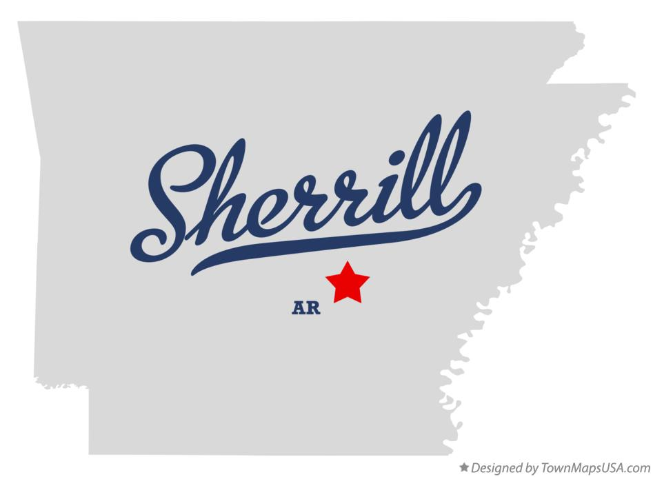Map of Sherrill Arkansas AR