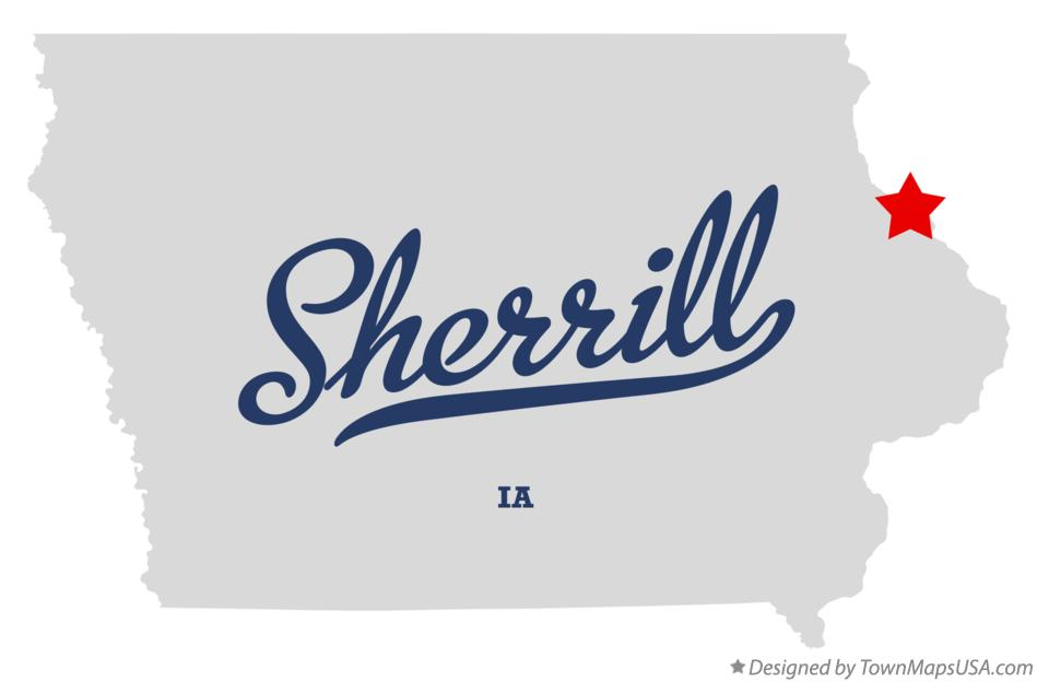 Map of Sherrill Iowa IA