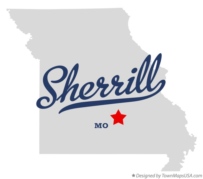 Map of Sherrill Missouri MO