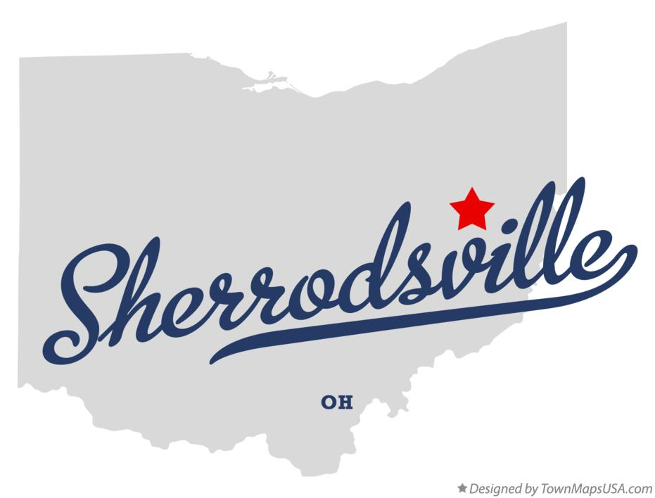 Map of Sherrodsville Ohio OH