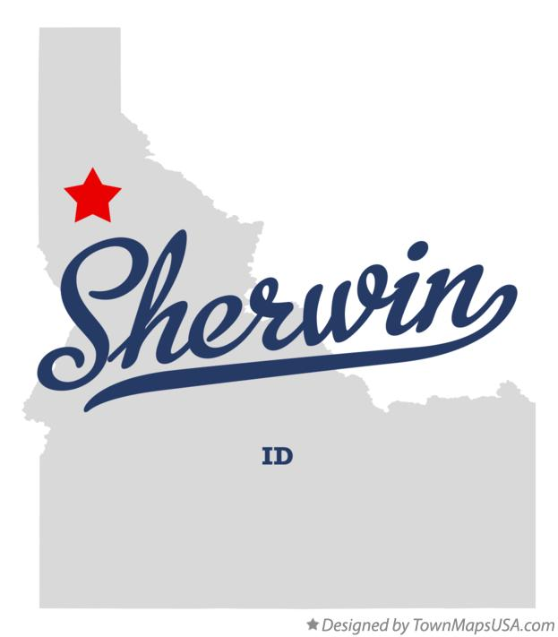 Map of Sherwin Idaho ID