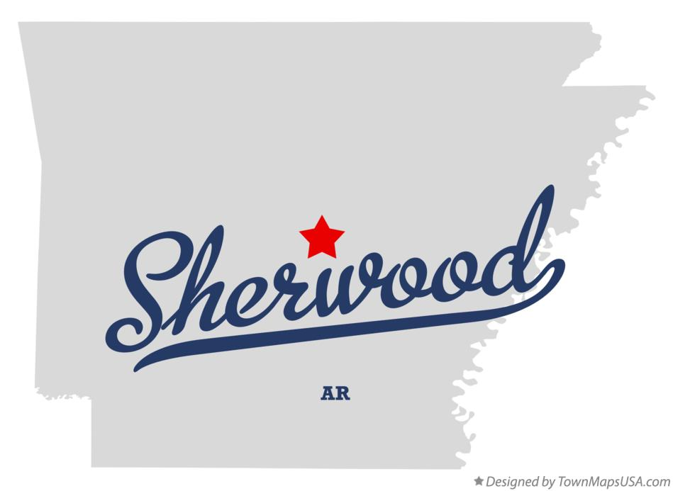 Map Of Sherwood Ar Arkansas