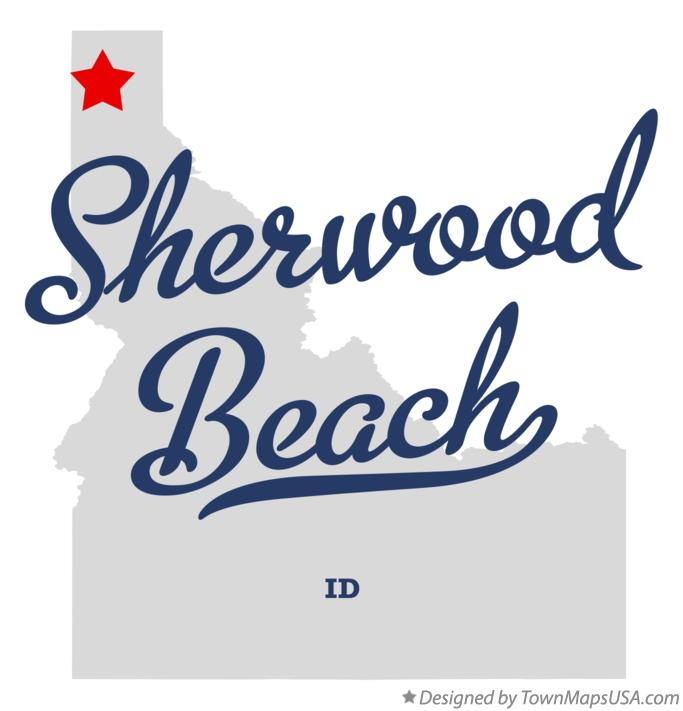 Map of Sherwood Beach Idaho ID