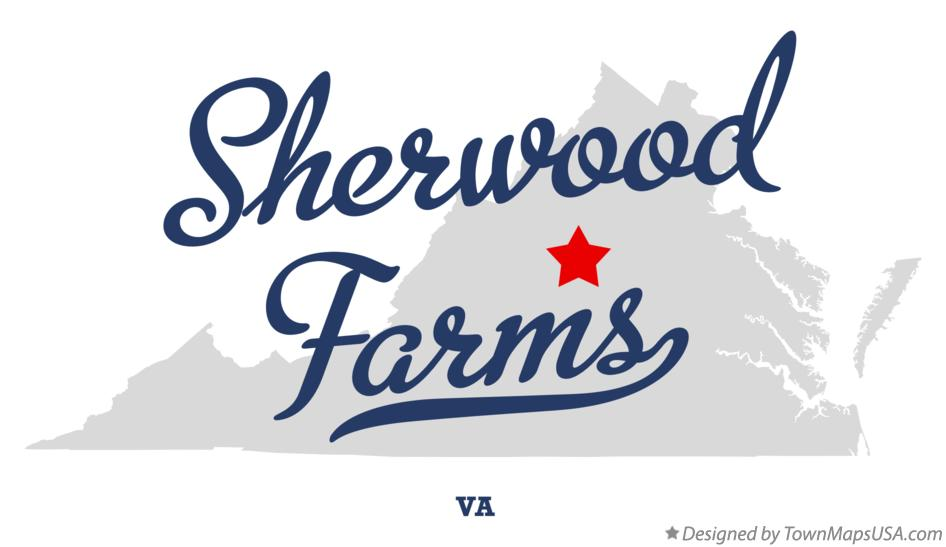 Map of Sherwood Farms Virginia VA